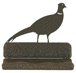 Rustic Metal Business Card Holder - Pheasant Design