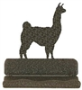 Rustic Metal Business Card Holder - Llama Design