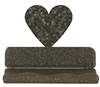 Rustic Metal Business Card Holder - Heart Design