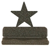 Rustic Metal Business Card Holder - Star Design
