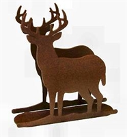 Rustic Napkin /Letter Holder - Deer Design