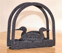 Rustic Napkin/Letter Holder - Loon Arched Design