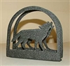 Rustic Napkin/Letter Holder - Wolf Arched Design