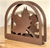 Rustic Napkin/Letter Holder - Maple Leaf Arched Design