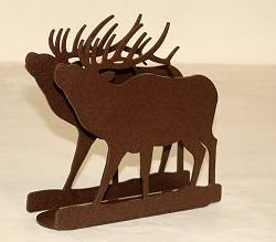 Rustic Napkin/Letter Holder - Elk Design
