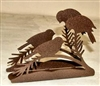 Rustic Napkin/Letter Holder - Chickadee Design