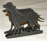 Rustic Napkin/Letter Holder - Lab Retriever Design