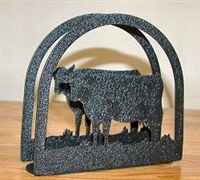 Rustic Napkin/Letter Holder - Cow Arched Design