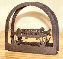 Rustic Napkin/Letter Holder - Muskie Arched Design