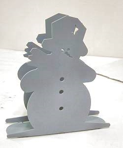 Rustic Napkin/Letter Holder - Snowman Design