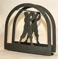 Rustic Napkin/Letter Holder - Golfer Arched Design