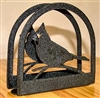 Rustic Napkin/Letter Holder - Cardinal Design