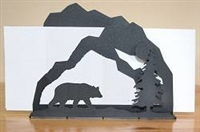 Rustic Letter Holder - Bear Design