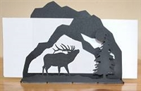 Rustic Letter Holder - Elk Scenery Design