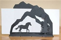 Rustic Letter Holder - Horse Scenery Design