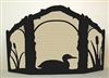 Rustic Wildlife Arched or Straight Top Fireplace Screen - Loon Design