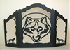 Rustic Wildlife Arched or Straight Fireplace Screen - Wolf Design