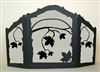 Rustic Wildlife Arched or Straight Fireplace Screen - Maple Leaf Design
