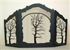Rustic Wildlife Arched or Straight Fireplace Screen - Oak Tree Design