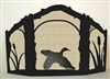 Rustic Wildlife Arched or Straight Top Fireplace Screen - Flying Duck Design