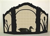 Rustic Wildlife Arched or Straight Top Fireplace Screen - Duck Design