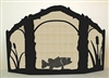 Rustic Wildlife Arched or Straight Top Fireplace Screen - Bass Design