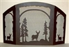 Rustic Wildlife Fireplace Screen - Deer Design - Melinda Style