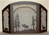Rustic Wildlife Fireplace Screen - Moose, Bear, Deer Design - Melinda Style