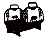 Big Lodge Log Holder- Bear Design