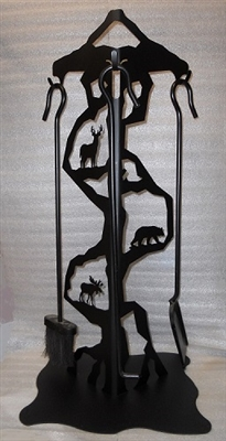 Fireplace Tools Stand- Deer, Bear, & Moose Design