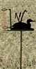 Garden Rain Gauge- Loon with Cattails Design