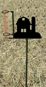 Garden Rain Gauge- Barn Design