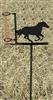 Garden Rain Gauge- Galloping Horse Design