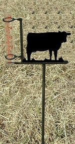 Garden Rain Gauge- Cow Design