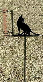 Garden Rain Gauge- Cat Design