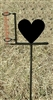 Garden Rain Gauge- Heart Design