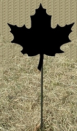 Metal Garden Stake- Maple Leaf Design