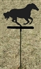 Metal Garden Stake- Galloping Horse Design