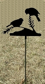 Metal Garden Stake- Chickadee Design