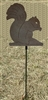 Metal Garden Stake- Squirrel Design