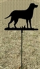 Metal Garden Stake- Lab Retriever Design