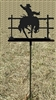 Metal Garden Stake- Bucking Bronco Design
