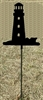 Metal Garden Stake- Lighthouse Design