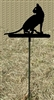 Metal Garden Stake- Cat Design