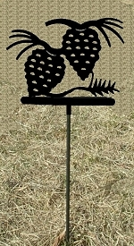 Metal Garden Stake- Pinecone Design