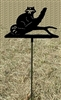 Metal Garden Stake- Raccoon Design