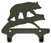 Rustic Wall Mounted Narrow Hook- Bear on a Log Design