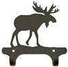 Rustic Wall Mounted Narrow Hook- Moose Design