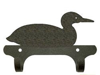 Rustic Wall Mounted Narrow Hook- Loon Design