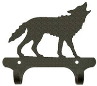 Rustic Wall Mounted Narrow Hook- Wolf Design